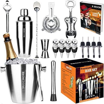 Bar Set 17-Pieces Jumbo Bartender Kit - Premium Cocktail Set Mixology Kit for Bar and Home - All-In...