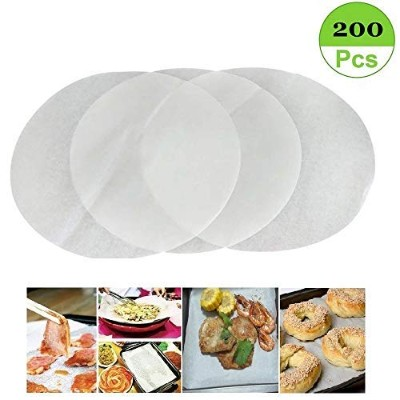 (set of 200) Non-Stick Round Parchment Paper 20cm diameter, Baking Paper Liners Round for Cake Pans...