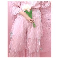 【SALE 30%OFF】Swankiss TSribbonlaceガウチョ ピンク