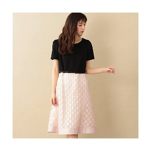 【SALE(伊勢丹)】 TO BE CHIC/TO BE CHIC  カットジャカードコンビドレス(W5J19172__) アカ【三越・伊勢丹/公式】 レディースウエア~~ワンピース