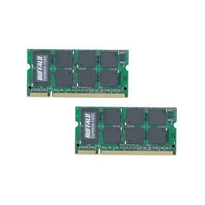 BUFFALO DDR2 533MHz SDRAM(PC2-4200) 200Pin S.O.DIMM 1GB 2枚組 D2/N533-1GX2