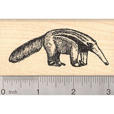 Giant Anteater Rubber Stamp, Ant Bear, Insectivore, Mammal,