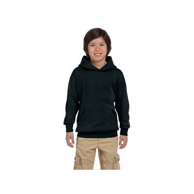 Hanes P473 Youth Comfort Blend Ecosmart Pullover Hoodie Size - Large - Black