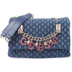 【SALE 30%OFF】ゲス GUESS GUESS PASSION CONVERTIBLE CROSSBODY FLAP (DENIM) レディース