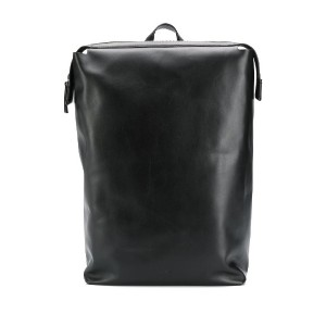 Calvin Klein geometric leather backpack - ブラック
