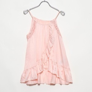 【SALE 75%OFF】ゲス GUESS TOP WITH FLOUNCES AND LACE DETAILS (SILVER PEONY)