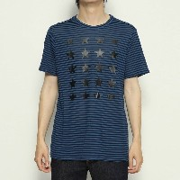 【SALE 50%OFF】ゲス GUESS LANE STRIPED TEE (MEDIEVAL BLUE MULTI)