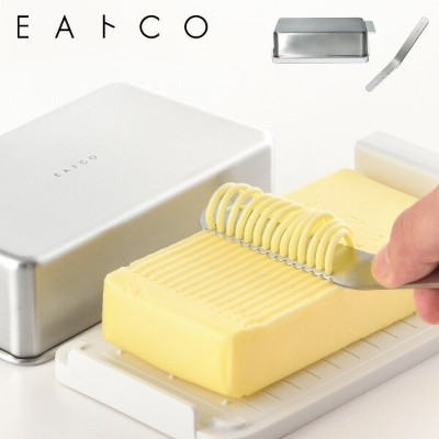 EAトCO バターセットButter Cace Container バターケース コンテナNulu butter knife ヌル バターナイフイイトコ ステンレス 樹脂 気密性 目盛り 保冷塗る...