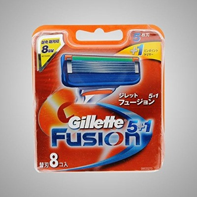 Gillette Fusion Manual Razor Blades Refills Safety Razor ドイツ製 8 Pack [並行輸入品]