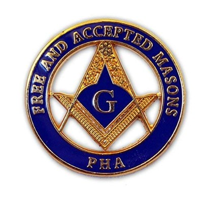 "The Masonic Exchange Masonic Princeホール(Pha) Free and Accepted Masonsラウンドブルー&ゴールドラペルピン – 1 ""直径"