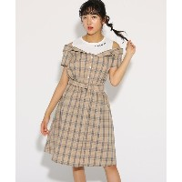【PINK-latte(ピンク ラテ)】 レイヤード風ドッキング ワンピース OUTLET > PINK-latte > ワンピース > ミニワンピース ライトベージュ