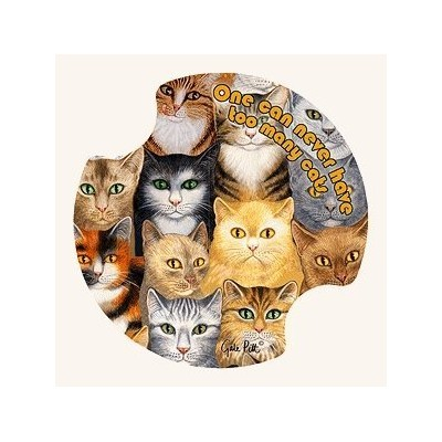 Can Never Have Too Many Cats Absorbent Carster Coasters by Thirstystone