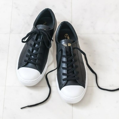 ◇CONVERSE[コンバース]ALL STAR COUPE LEATHER OXオールスター クップ レザー OX9A 3130029 ブラック チャックテイラー