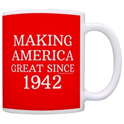(1, Red) - 75th Birthday Gifts Making America Great Since 1942 Funny 75th Birthday Party Supplies...