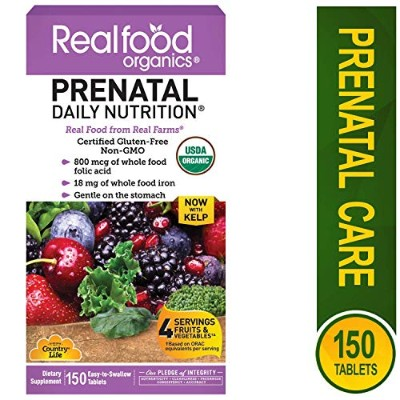 Country Life Realfood Organics Prenatal 150 Tabs by Country Life
