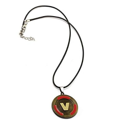 Battle Royale V Coin Metal Pendant Rope Chain Choker Red Necklace [並行輸入品]