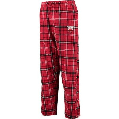 Concepts Sport Chicago Bulls Red/Black Ultimate Tall Sizes Flannel Pants メンズ