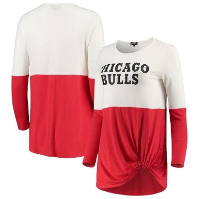 Chicago Bulls Women's Red In It To Win It Colorblock Long Sleeve T-Shirt ユニセックス