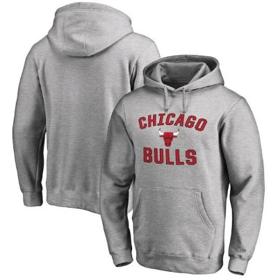 Chicago Bulls Ash Victory Arch Pullover Hoodie メンズ