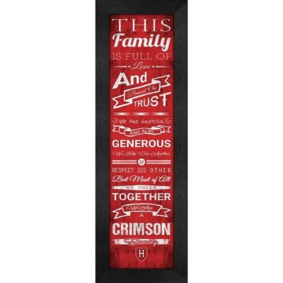 Harvard Crimson Family Cheer Framed Print ユニセックス