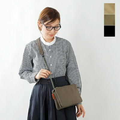 "kha:ki(カーキ)ショルダーバック""TRIPLE SHOULDER BAG"" mil-19sbg34-tr"