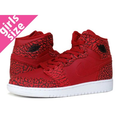 NIKE AIR JORDAN 1 RETRO HIGH BG ナイキ エア ジョーダン 1 レトロ ハイ BG ELEPHANT PRINT/GYM RED/WHITE 838850-600