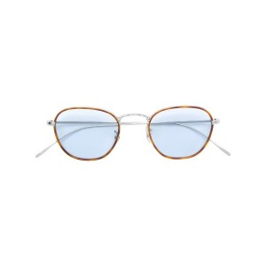 Oliver Peoples スクエア メガネフレーム - ブラウン