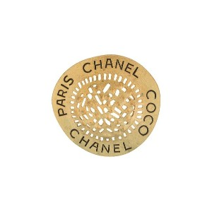 Chanel Pre-Owned CC ピンブローチ - ゴールド