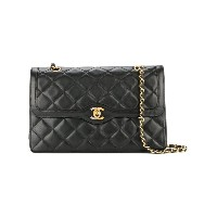 Chanel Pre-Owned Paris Limited Double Flap ショルダーバッグ - ブラック