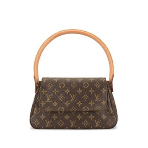 Louis Vuitton Pre-Owned ルーピング ショルダーバッグ ミニ - ブラウン