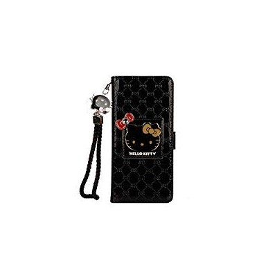 Hello Kitty Wallet Case,Bling Mirror Bowknot PU Leather Flip Cover Kickstand Case (iPhone 7 /...