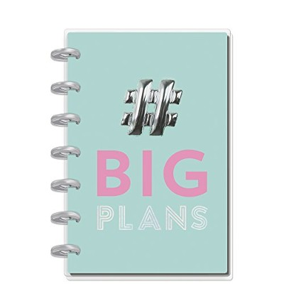 "Happy Planner 12-Month Dated Mini Planner 5.125X7.5""-Big Plans, Horizontal, Jul 2018-Jun 2019"