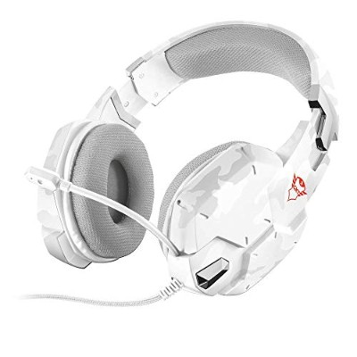 TRUST ゲーミングヘッドセットトラスト GXT 322W Gaming Headset - white camouflage 20864