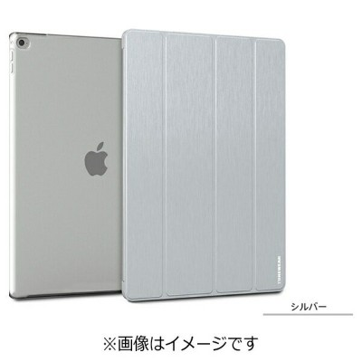 TUNEWEAR iPad Pro用(12.9インチ) Brushed Metal Look SHELL with Front cover シルバー TUN-PD-200004[TUNPD200004...