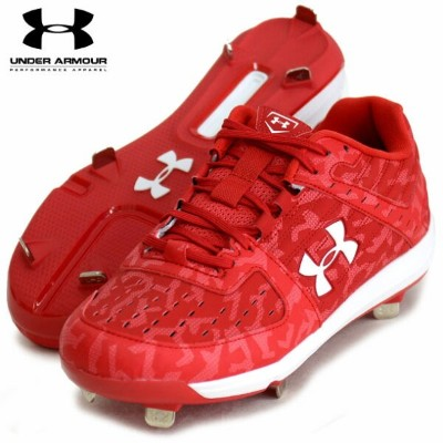 UA イグナイトライト Low ST ワイド【UNDER ARMOUR】アンダーアーマー 野球スパイク19SS(3022132-RED/WHT)*00
