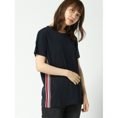 (W)TOMMY HILFIGER(トミーヒルフィガー) フラッグテープT トミーヒルフィガー カットソー【送料無料】