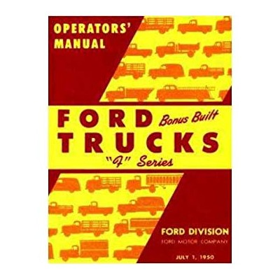 1950 FORD TRUCK Full ライン Owners マニュアル User Guide 「汎用品」(海外取寄せ品)