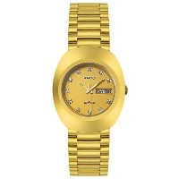 Rado ラドー メンズ腕時計 Diastar All Gold Tone Stainless Steel Mens Watch R12393633