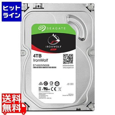 シーゲイト ( Seagate ) Guardian IronWolfシリーズ 3.5インチ内蔵HDD 4TB SATA 6.0Gb/s 5900rpm 64MB ST4000VN008