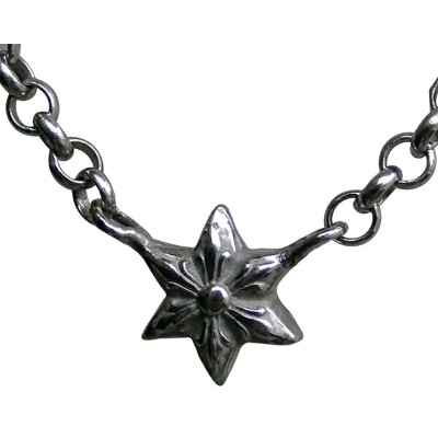 CHROME HEARTS PT STAR THIN ROLL CHAIN NECKLACE クロムハーツ PT STAR THIN ロールチェーン ネックレス