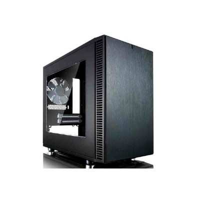 FractalDesign FD-CA-DEF-NANO-S-BK-W Define Nano S - Black - Window version スタイリッシュなフロントデザイン...