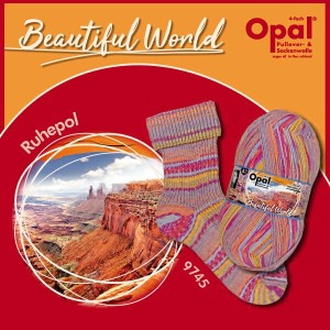 Opal 靴下用毛糸 Beautiful World 9745