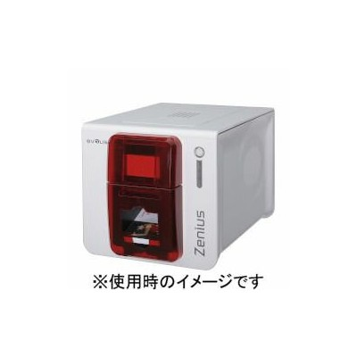 Evolis カードプリンタ Zenius Expert(赤) ZN1HRS 取り寄せ商品