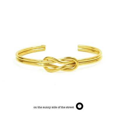 on the sunny side of the street オンザサニーサイドオブザストリート610-269 Gold Sailor Knot Bangle Silver シルバー Gold...