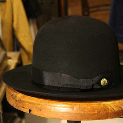 """DRESS HIPPY""""OLD OPEN CROWN HAT""""BLACKDRESS HIPPYドレスヒッピー正規取扱店(Official Dealer)Cannon Ballキャノンボールあす楽対応送..."""