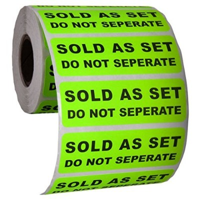 (1 PACK (500)) - Sold as a Set Do Not Separate Labels Stickers by Kenco 7.6cm X 2.5cm Fluorescent...