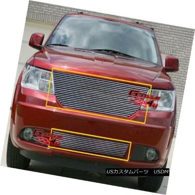グリル For 09-10 Dodge Journey Billet Grille Combo Insert 09-10 Dodge Journeyビレットグリルコンボインサート