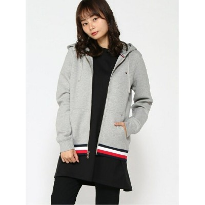 (W)TOMMY HILFIGER(トミーヒルフィガー) ベーシックジップアップパーカー トミーヒルフィガー カットソー【送料無料】