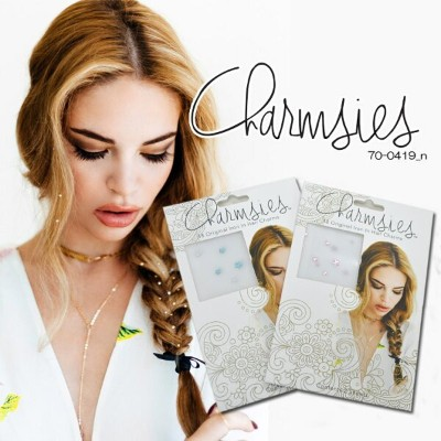【charmsies】 チャームシーズ hair charms ヘアチャーム ヘアアクセサリー 2枚セット NEWCOLOR