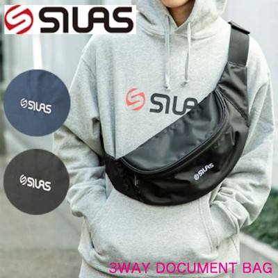 SILAS サイラス ウエストポーチ ボディバッグ ウエストバッグ 男女兼用【FRONT LOGO FANNY PACK】通勤 通学 バッグ 10192001